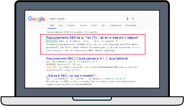 Posicionamiento SEM Google Ads